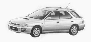 Subaru Impreza 4WD SPORT WAGON 2.0L WRX 1993 г.