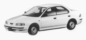 Subaru Impreza 4WD HARD TOP SEDAN 1.6L CF 1993 г.