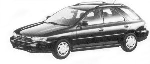 Subaru Impreza SPORT WAGON 1.6L CX 1992 г.