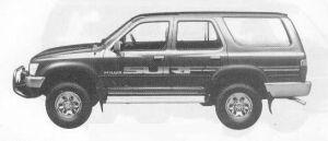 Toyota Hilux Surf 4DOOR V6 3000SSR 1990 г.