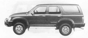Toyota Hilux Surf 4DOOR 2400 DIESEL TURBO SSR 1990 г.