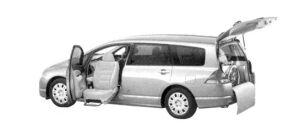 Honda Odyssey M FF Lift-up Passenger Seat Version 2004 г.