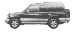 Mitsubishi Pajero KICK UP ROOF WIDE GR 1997 г.