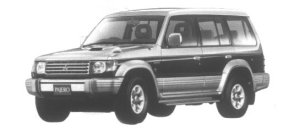 Mitsubishi Pajero Midroof Wide Exceed 1995 г.