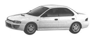 Subaru Impreza 4WD HARD TOP SEDAN 2.0L WRX-RA 1994 г.