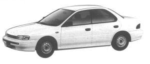 Subaru Impreza 4 DOORS HARD TOP SEDAN 1.5L CF 1994 г.