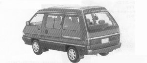 Toyota Townace WAGON 2WD SUPER EXTRA 1.8 TWIN MAIN ROOF 1991 г.