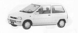 Subaru REX 3DOOR SEDAN FERIA 1991 г.